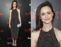 Alexis Bledel joined Madeline Brewer and Elisabeth Moss at the LA premiere of 'The Handmaid's Tale' on Tuesday (April 25). I had to smile at this Cushnie e