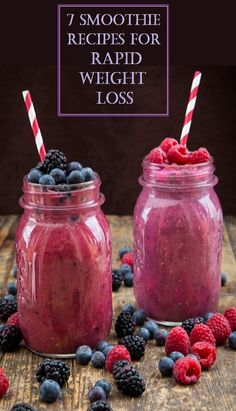 7 Smoothie Recipes For Rapid Weight Loss Smoothies are low in fat, rich in nutrients and loaded with fiber. This make them the perfect weight loss food. Weight Loss Meals, Quick Weight Loss Tips, Weight Loss Drinks, How To Lose Weight Fast, Weight Gain, Losing Weight, Lose Fat, Reduce Weight, Body Weight