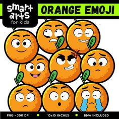 "Orange Emoji Clip Art Check out the BUDGET BUNDLE of this Emoji Clip Arts - Bundle Clip art Link Included in this Product: • 9 Full Colored items • 9 Black and white items • 18 pieces clip art in total • Each clip art saved separately in 1,""x1,"" 3,, dpi PNG files, transparent background *Colors might be slightly different due to different screen color..."