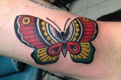 Tattoo gallery - pictures and designs - free tattoo designs Butterfly Tattoos On Arm, Butterfly Tattoo On Shoulder, Butterfly Tattoo Designs, Traditional Butterfly Tattoo, Traditional Tattoo Images, Hand Tattoos, Sleeve Tattoos, Free Tattoo Designs, Lace Tattoo