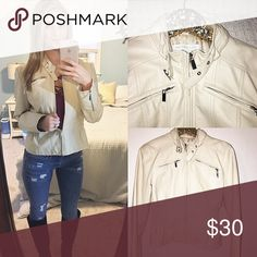 Tan leather jacket from ny&c. Worn one time! Tan leather short jacket with beautiful hardware. Excellent/New condition❗️size medium. New York & Company Jackets & Coats