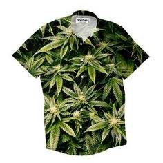 """""""Are you a fan of nature? This Kush button down is for the greatest plant aficionados out there. Button Shirts, Button Down Shirt, Button Downs, Men Casual, Plant, Nature, Mens Tops, How To Wear, Fashion"""