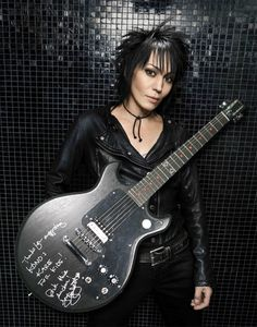 Signed Joan Jett Gibson Melody Maker Guitar Resident Name: Mötley CrüeEvent Name: Motley Crue/Def Leppard/Poison/Joan Jett and the BlackheartsDate: Location: Washington, DCEvent Venue: Nationals Park Guitar Girl, Guitar Shop, Music Guitar, Guitar Logo, Guitar Tattoo, Ukulele, Joan Jett, Easy Guitar, Cool Guitar
