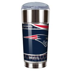 Officially Licensed NFL 24 oz. Stainless Steel Eagle Tumbler - Patriots