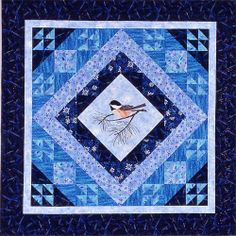 quilt patterns | Chickadee Pieced and applique quilt pattern by Bee Creative