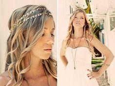 Absolutely Beautiful Bridal Hair: Bohemian Wedding Hairstyle