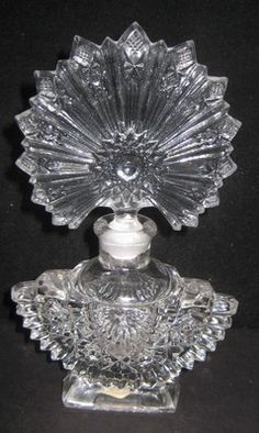 1940s Perfume Bottle made by Imperial Glass Company via eBay