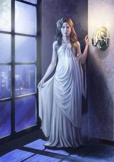La dama blanca - Digital Art by Claudia ScarletGothica  <3 <3
