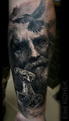 Black and grey portrait by Eliot Kohek