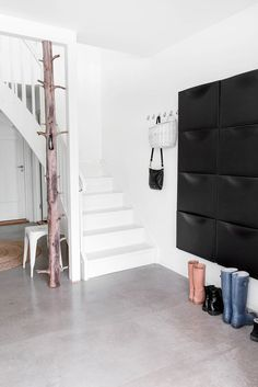 Have 6 of these for shoes at the front door Black Ikea 'Trones' shoe cabinets