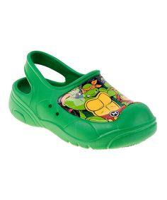 Look at this Teenage Mutant Ninja Turtles Green TMNT Closed-Toe Sandal on #zulily today!