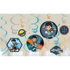 Check out Miles from Tomorrowland Swirl Value Pack - Hanging Decorations and other Party Supplies from Birthday In A Box