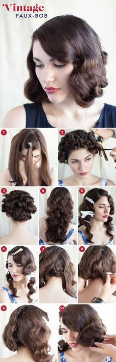 DIY Wedding Hair : DIY Go Short for the Day with Our Faux-bob