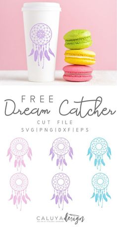FREE dream catcher SVG cut file that are compatible with Cricut and Cameo Silhouette Studio- Perfect Vinyl Crafts, Vinyl Projects, Diy Craft Projects, Silhouette Machine, Silhouette Studio, Silhouette Files, Silhouette Cameo Freebies, Free Silhouette, Bullet Journal Ideas