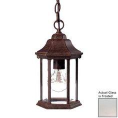 Acclaim Lighting Madison 12-In Burled Walnut Outdoor Pendant Light 5185Bw/Fr