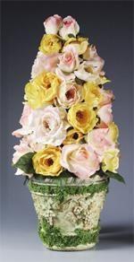 DIY Topiary  : DIY Colorful Roses Topiary