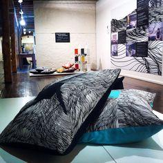 Big fat and fun Topology Design floor cushions at the 'through the door' exhibition at the Salamanca arts center