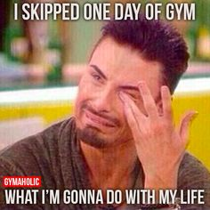 I Skipped One Day Of Gym - Fitness Motivation Funny Humor Quote - Sport Motivation, Fitness Studio Motivation, Fitness Studio Training, Weight Loss Motivation, Workout Motivation, Workout Memes, Gym Memes, Gym Workouts, Funny Workout