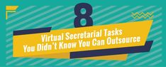 8 Virtual Secretarial Tasks You Didn't Know You Can Outsource - Sumographic Focus On Yourself, To Focus, Secretary, Knowing You, Infographic, Hands, Canning, Feelings, Infographics