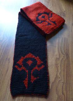 Horde scarf/ Warcraft scarf/ Horde banner by HeartMadeByMarina