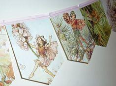 2M Vintage Flower Fairies Bunting Banner by LindseyLovesUK, £14.99