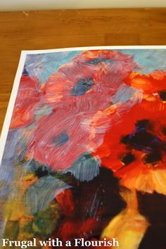 Frugal with a Flourish: Creating Paintings out of Posters