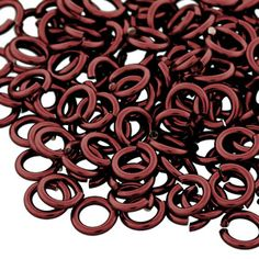 7.5mm Burgundy 16 Gauge Open Jump Rings by Weave Got Maille | Fusion Beads