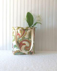 Autumn Paisley Tote Bag  Reversible Chevron Fall by JannysGirl, $34.00
