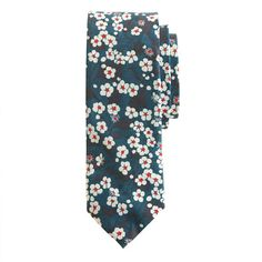 Liberty tie in bright nightfall floral - ties & pocket squares - Men's New Arrivals - J.Crew