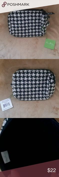 "NWT Vera Bradley Medium Cosmetic Bag - New with Tag - Pattern: Midnight Houndstooth - Length: 6"", Height 7"", Depth 4 1/2"" - no pockets Vera Bradley Bags Cosmetic Bags & Cases"