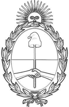 Escudo nacional argentino para colorear, 12 de marzo