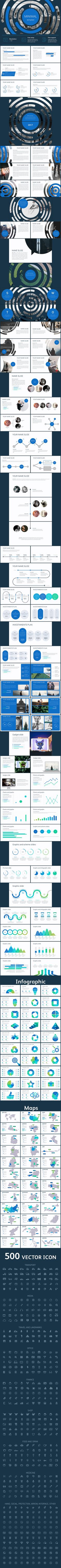 Minimal clean template - #Creative #PowerPoint #Templates Download here: https://graphicriver.net/item/minimal-clean-template/19379269?ref=alena994