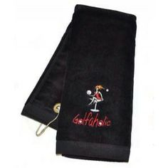 Golfaholic Embroidered Black Golf Towel embellished with Swarovski Crystals by Navika Designs. Terry cloth ladies golf towel with a clip to latch onto golf bag. Bring some BLING and style onto the golf course! Black Crystals, Swarovski Crystals, Golf Towels, Golf Gifts, Golf Accessories, Golf Outfit, Ladies Golf, Golf Bags, Lady
