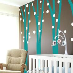 Disney Frozen room decor for walls - turn a room into a magical forest in an instant.