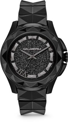 Karl Lagerfeld Karl 7 Black Ceramic Unisex Watch in Black for Men