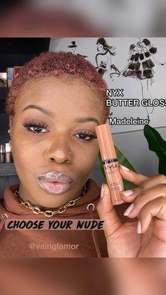 Black Girl Makeup, Makeup For Black Skin, Lipstick For Dark Skin, Nude Makeup, Nude Lip, Makeup For Brown Eyes, Girls Makeup, Glowy Makeup, Smokey Eye Makeup