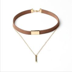 New Velvet Metal Chain Choker Necklaces For Women Gold Plated Leather Chain Alloy Pendant Collar Choker Velvet Choker Necklace