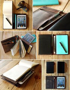 Large Moleskine cover and Ipad Mini cover by Just Wanderlust, $182.00
