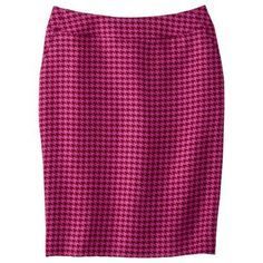 Merona® Women's Houndstooth Pencil Skirt - Dark Red