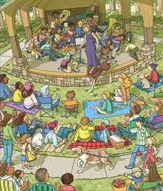 Highlights Hidden Pictures, Find The Hidden Objects, Highlights Magazine, Air Balloon Festival, Sequencing Cards, Picture Composition, Bicycle Race, Picture Story, Louisiana Swamp