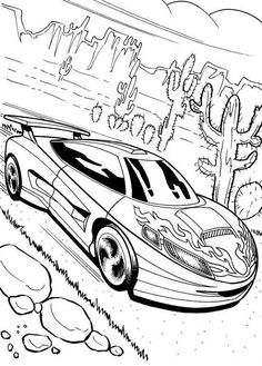 Ford Mustang GT Coloring page | 塗り絵, 白黒, イラスト