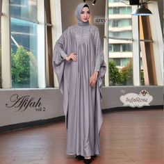 Afifah by Syfarose Dresses With Sleeves, Grey, Long Sleeve, Fashion, Gowns With Sleeves, Mindful Gray, Moda, Full Sleeves, Fashion Styles