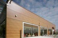 New Trespa Meteon Wood Décor Range, a great facade alternative. Garage Doors, Alternative, Multi Story Building, Construction, Range, Landscape, Architecture, Wood, Outdoor Decor
