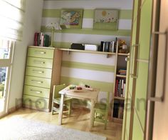 Interior Design Creative Ideas For Space Saving Designs Your Small Kids Rooms : Lime Lime Green White Stripe Kids Room Picture 4 836x696 Space Saving Ideas For Small Kids Rooms