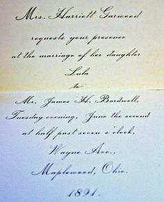 three victorian era wedding invitations authentic antique