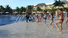 Zumba for all ages at Memories Splash Punta Cana with NRG2GO instructor Geth David Noble.  http://nrg2go.net