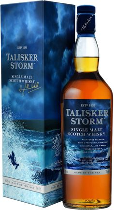Talisker Storm Single Malt #Scotch Whisky. This #whisky was named the Highlands Single Malt of the Year by Whisky Advocate. | @Caskers