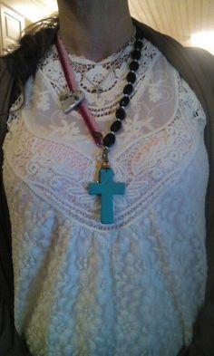JewelryCross By annie #byannie #jewelry #cross #handmade # hematite