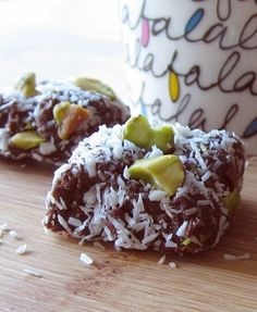 Healthy Mocha Fudge Vegan Energy Bites Recipe - Go Dairy Free