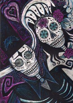 Sugar+skulls+by+Vikkki.deviantart.com+on+@deviantART